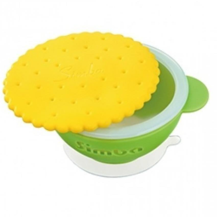 Simba Anti-scald Silicone Suction Bowl- Green