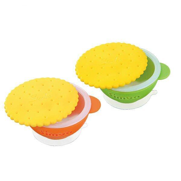 Simba Anti-scald Silicone Suction Bowl- Orange
