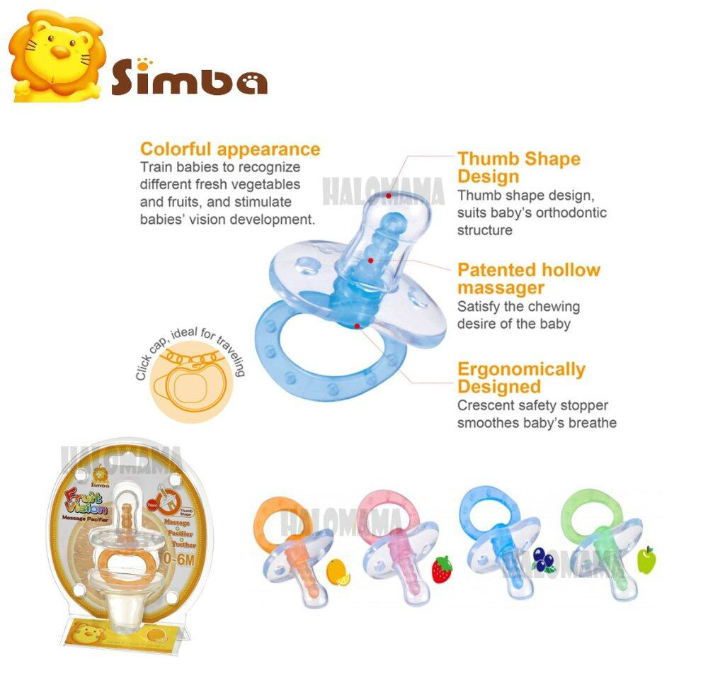 Simba Fruit Vision Thumb Shape Massage Pacifier (0-6M)