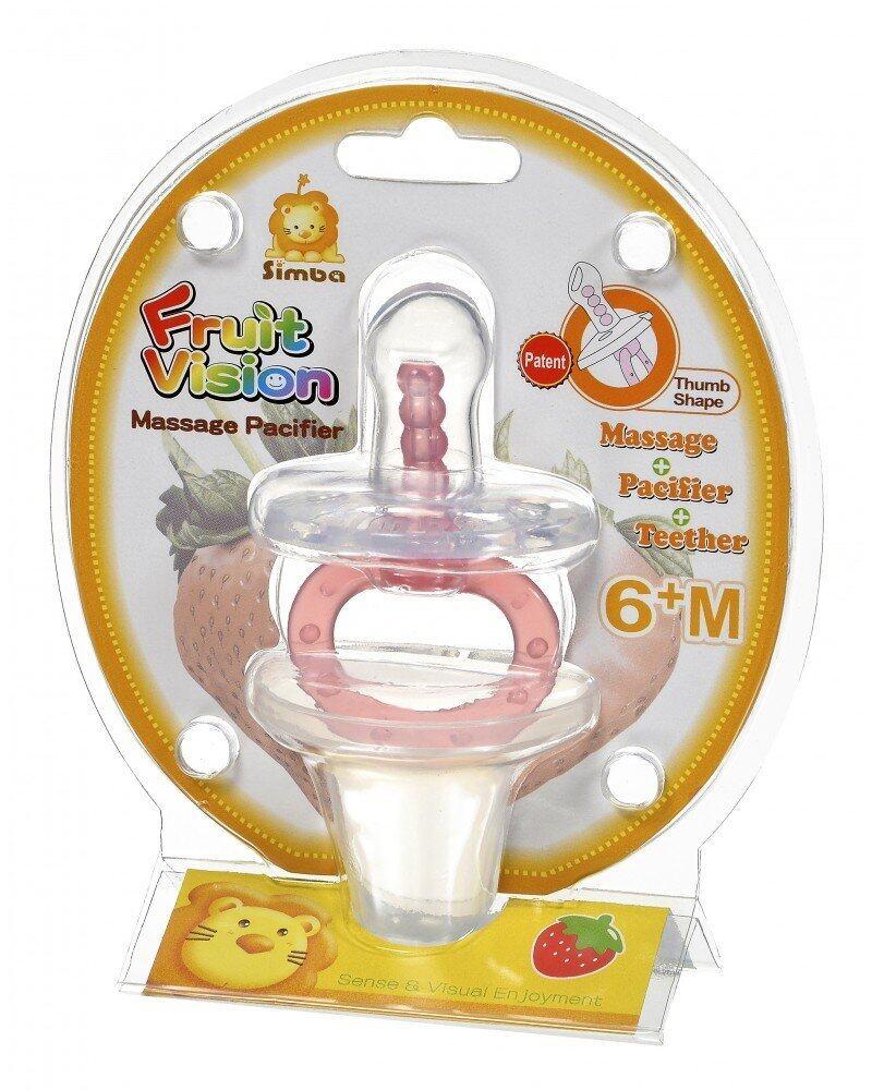 Simba Fruit Vision Thumb Shape Massage Pacifier (6+M)
