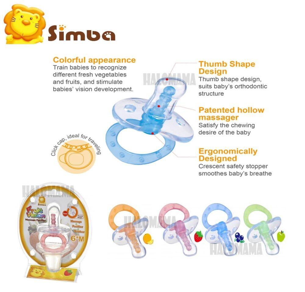 Simba Fruit Vision Thumb Shape Massage Pacifier (6+M)