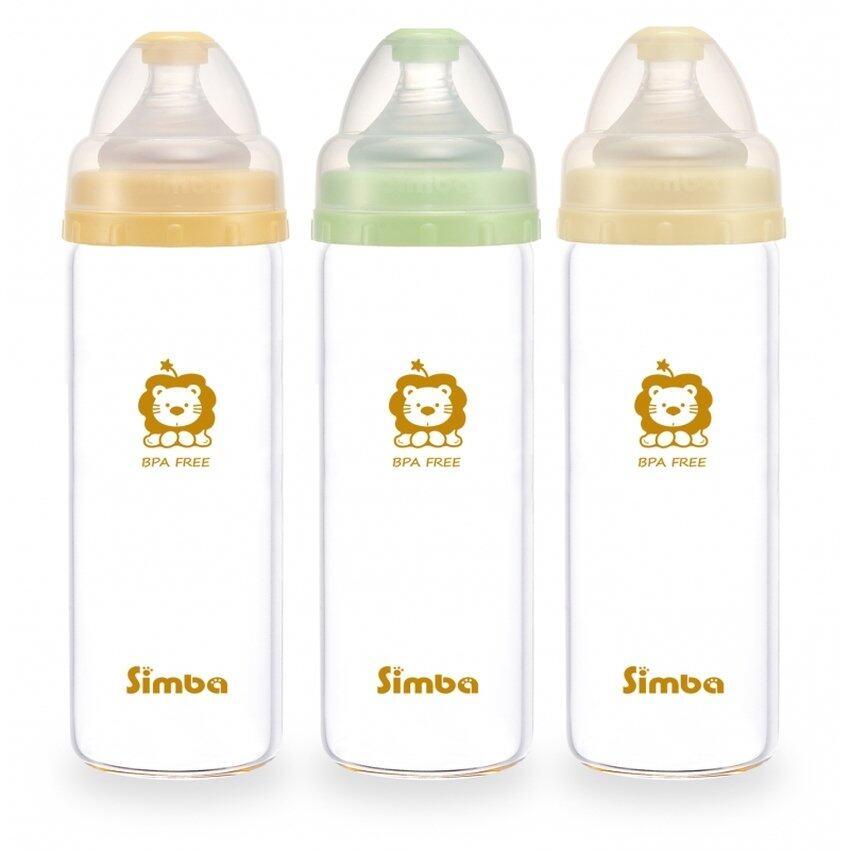 Simba Glass Wide Neck Feeding Bottle (260ml)