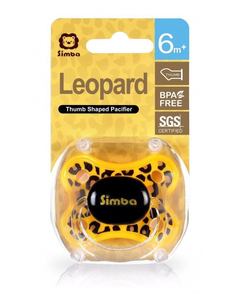 Simba Leopard Spots Thumb Shaped Pacifier 6+m