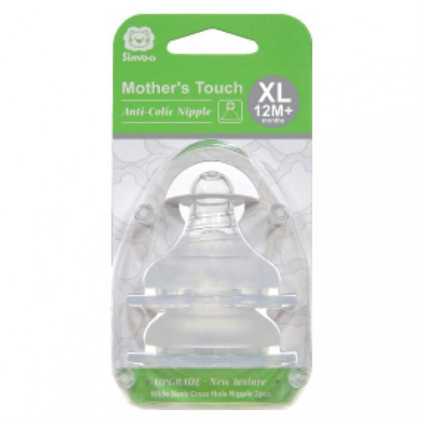 Simba Mother´s Touch Wide Neck Cross Hole Anti-Colic Nipple - 2pcs(XL size)