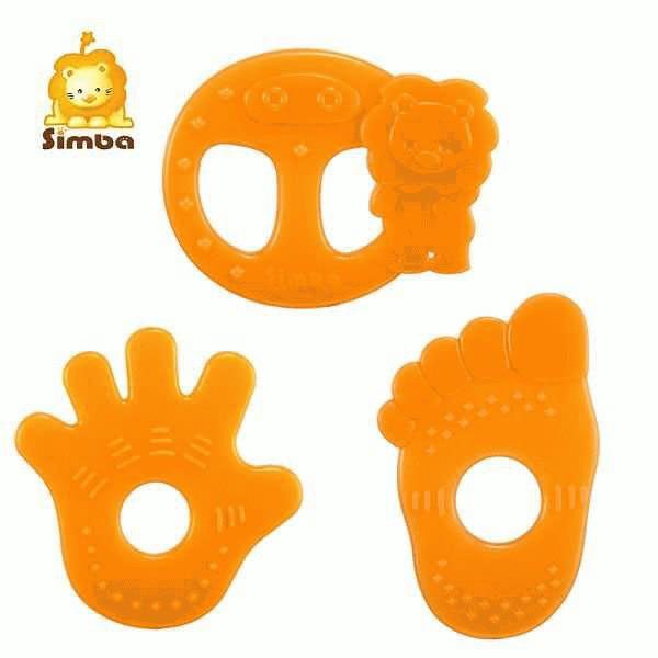 Simba Orange Silicone Teether (Simba)