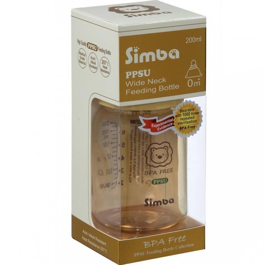 Simba PPSU Wide Neck Calabash Feeding Bottle (200ML)