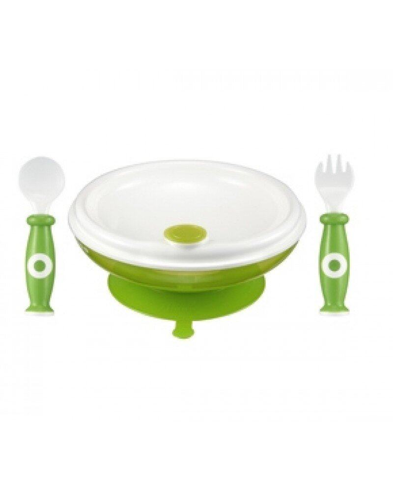 Simba Warming Plate & Spoon Set - Green