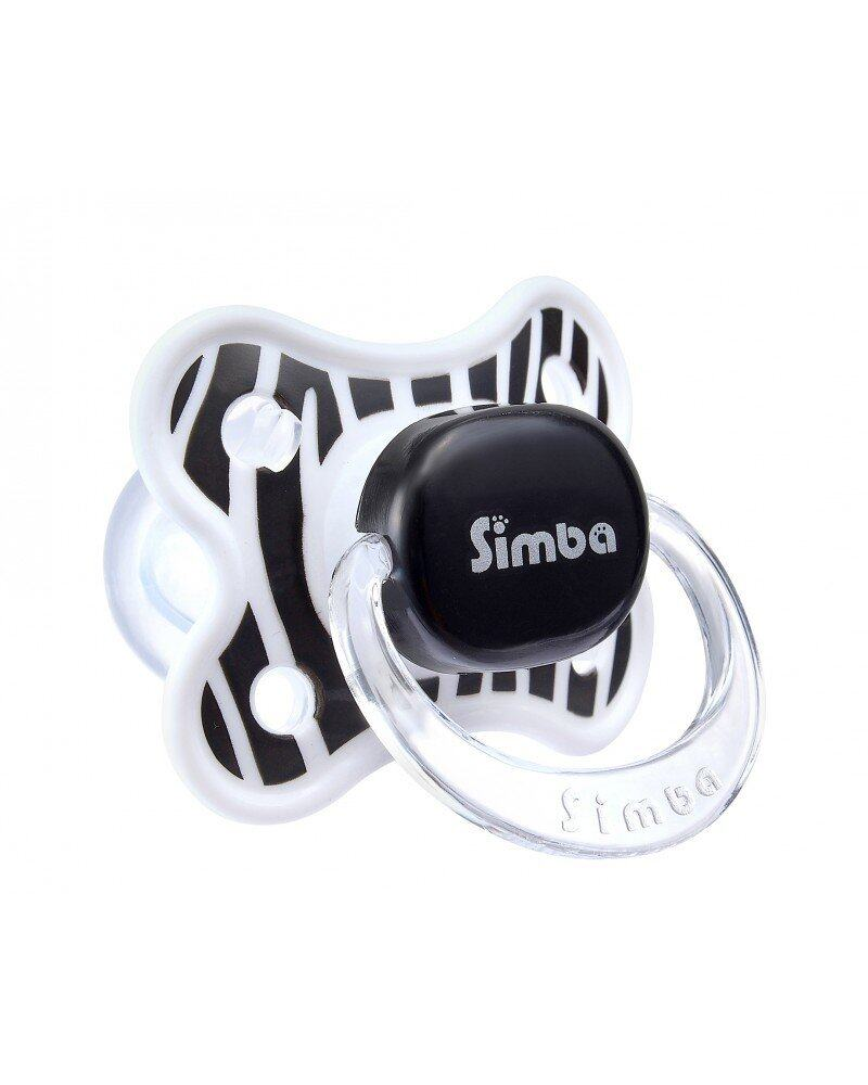 Simba Zebra Stripes Thumb Shaped Pacifier 0+m