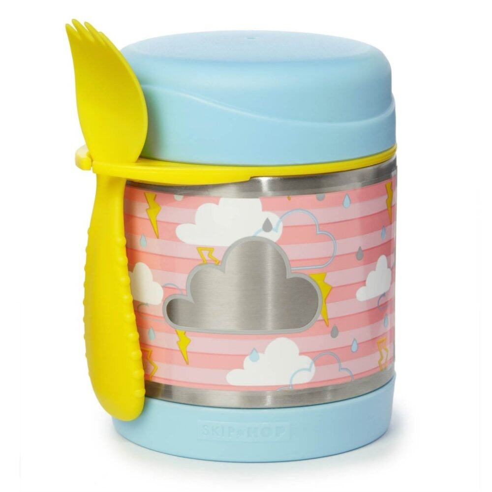 SKIP HOP Forget Me Not Insulated Food Jar-Cloud