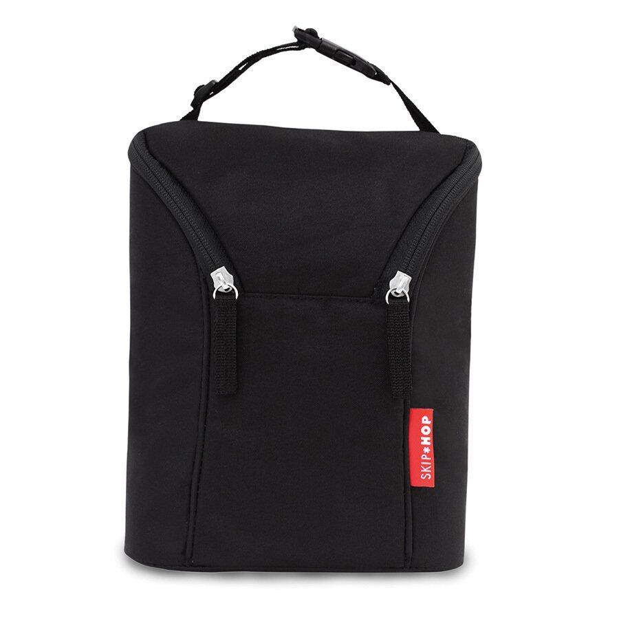 SKIP HOP Grab and Go Double Bottle Bag- Black