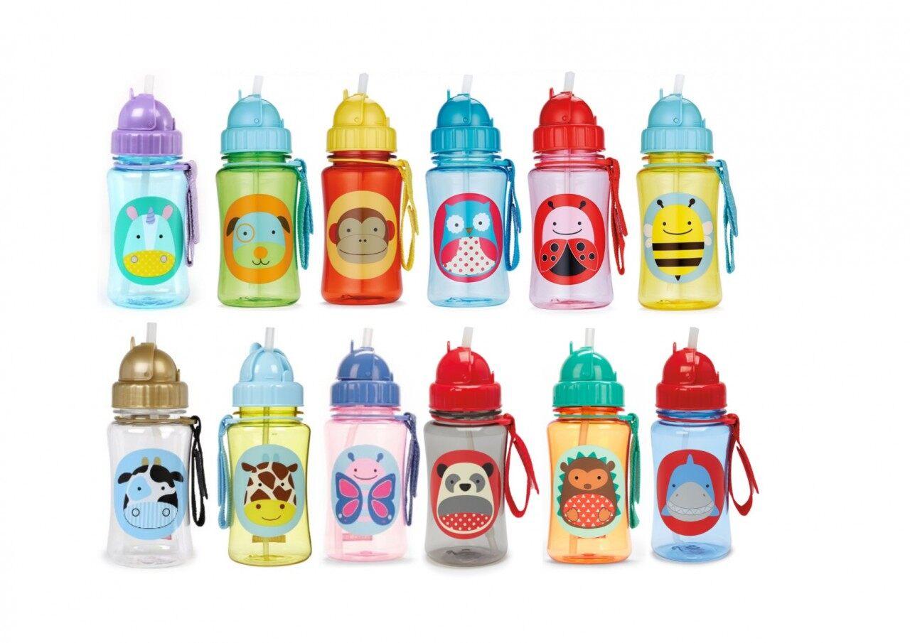 SKIP HOP Zoo Straw Bottle - Hedgehog
