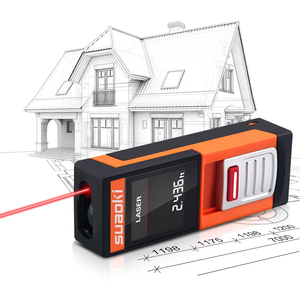 Diskon Suaoki D5 20 M Genggam Digital Laser Meter Jarak Jauh Oranye Akhir Tahun