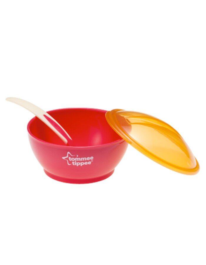 Tommee Tippee Big Weaning Bowl With Heat Sensor Spoon
