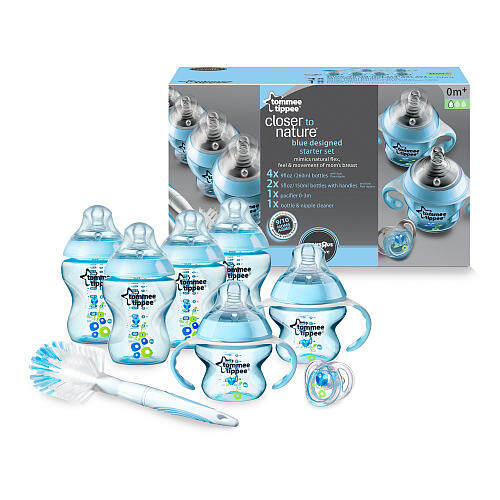 Tommee Tippee Closer to Nature Decorated Blue Bottle Starter Set