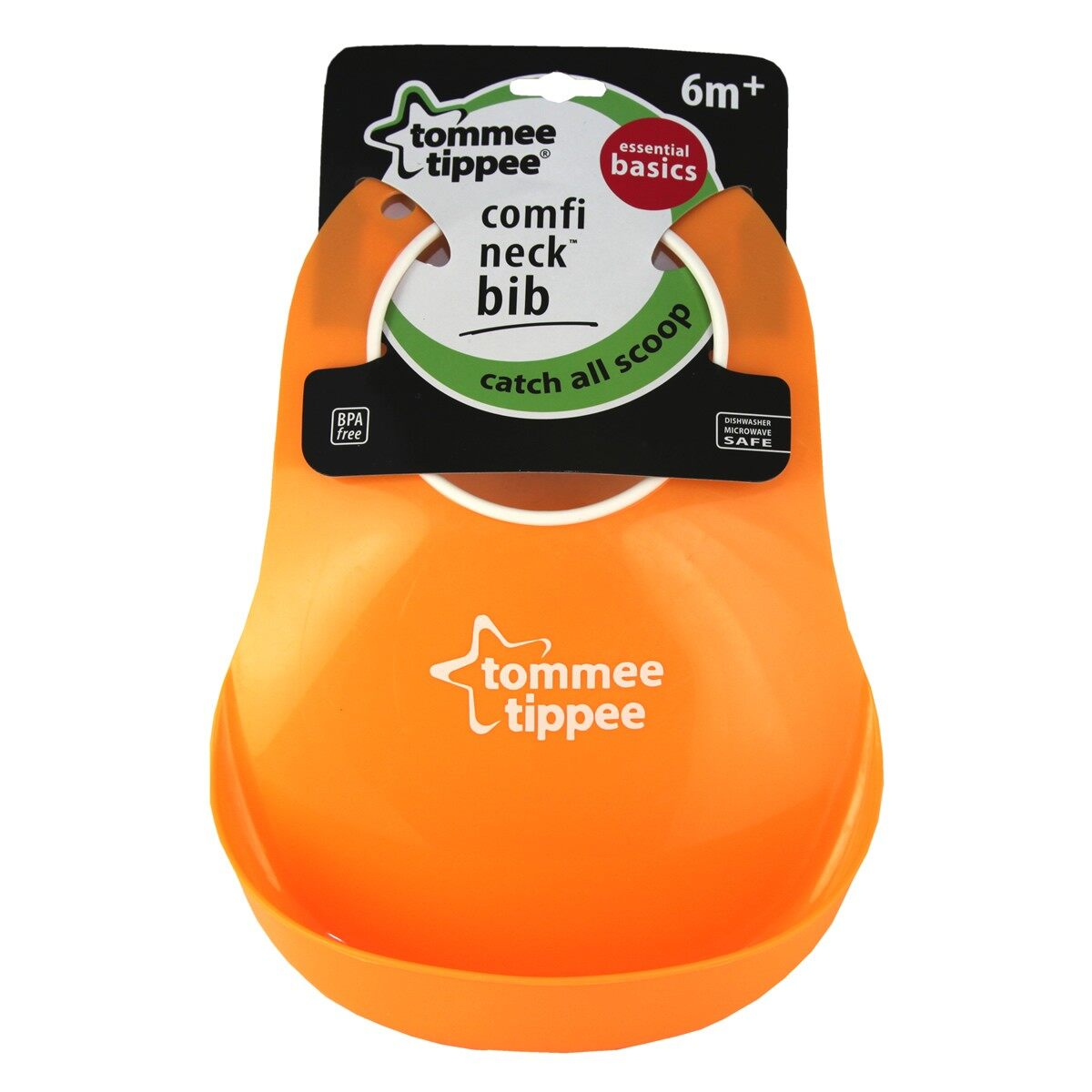 Tommee Tippee Roll & Go Bib Orange