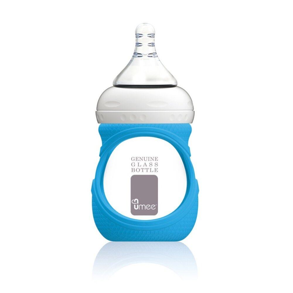 Umee Glass Bottle with Sleeve 150ml - blue