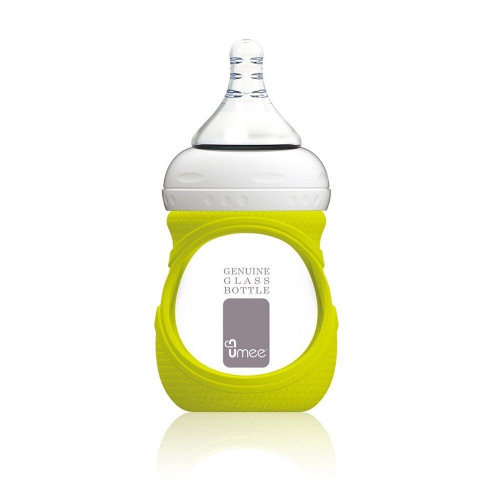 Umee Glass Bottle with Sleeve 150ml - green