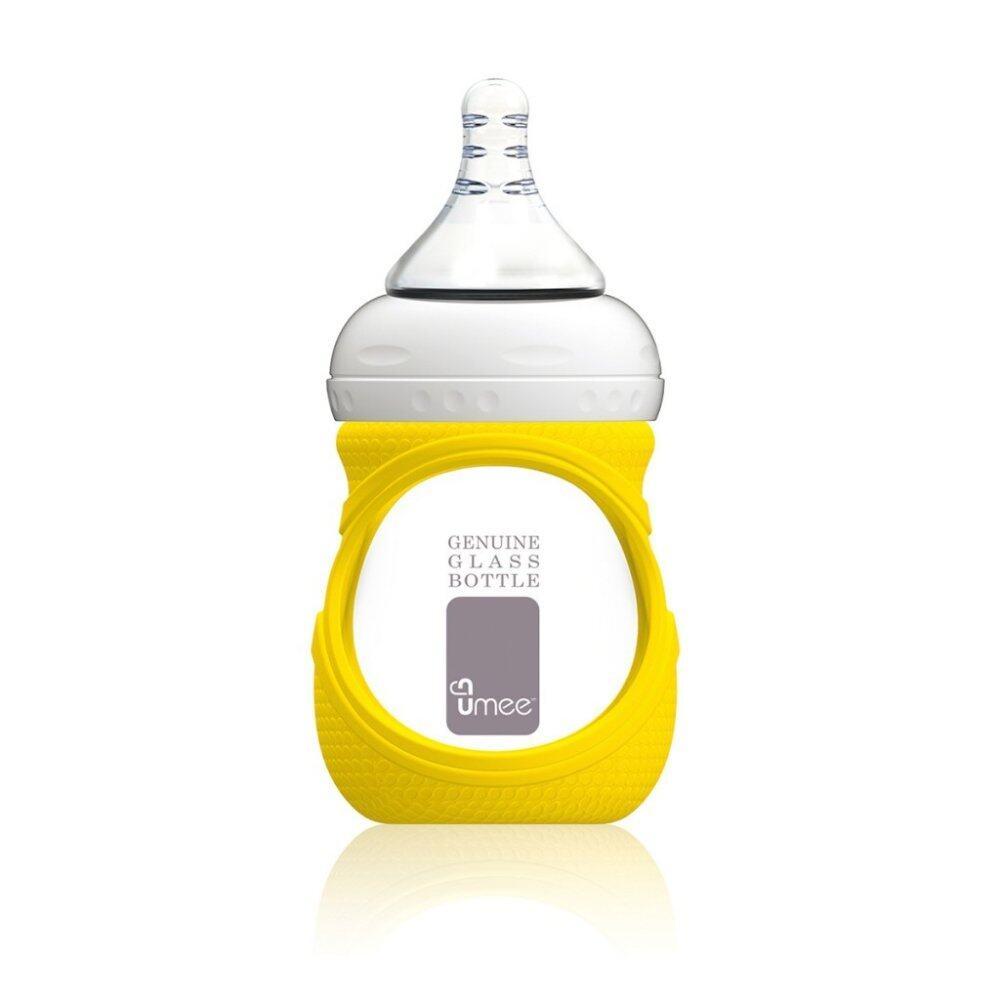 Umee Glass Bottle with Sleeve 150ml - yellow