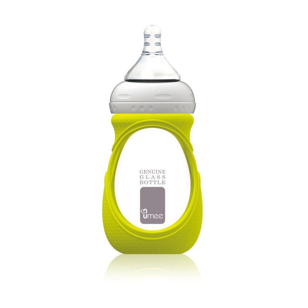 Umee Glass Bottle with Sleeve 240ml - green