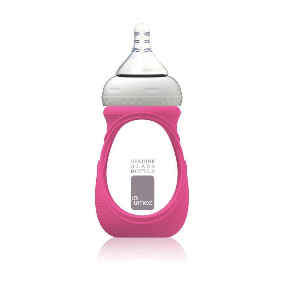 Umee Glass Bottle with Sleeve 240ml - pink