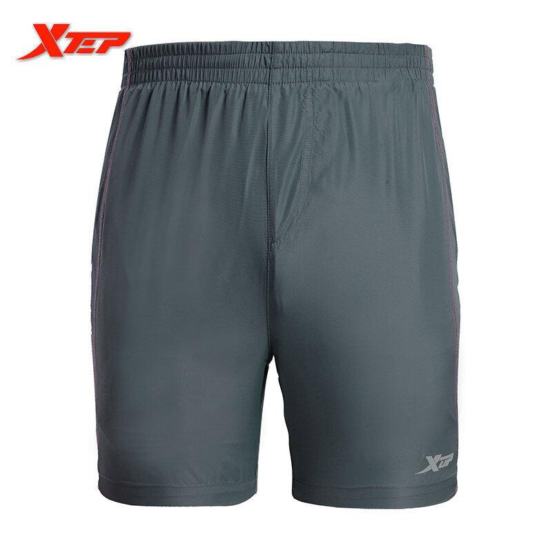 Spesifikasi Xtep Abu Abu Hitam Berlarian Sports Pants Bang Pendek Pria Celana Pendek Tenis Meja Poliester Celana Sepak Bola Pants Bang Pendek Pria Marathon Abu Abu Lengkap Dengan Harga