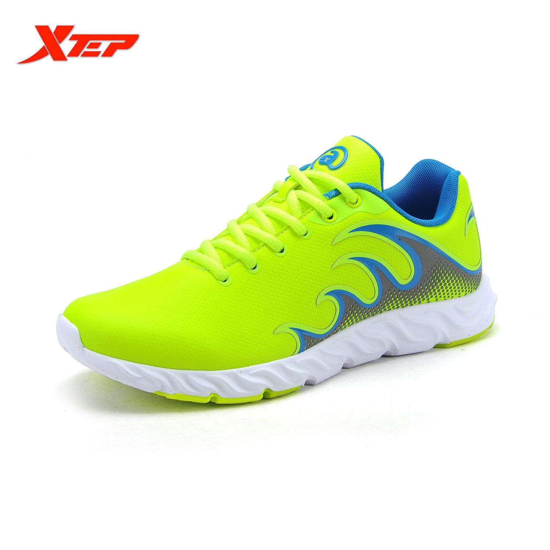 XTEP Merek Menjalankan Sepatu untuk Pria Sneaker Atletik Redaman Sepatu Olahraga Air Mesh Bernapas Baru Sepatu Pria (hijau/biru)