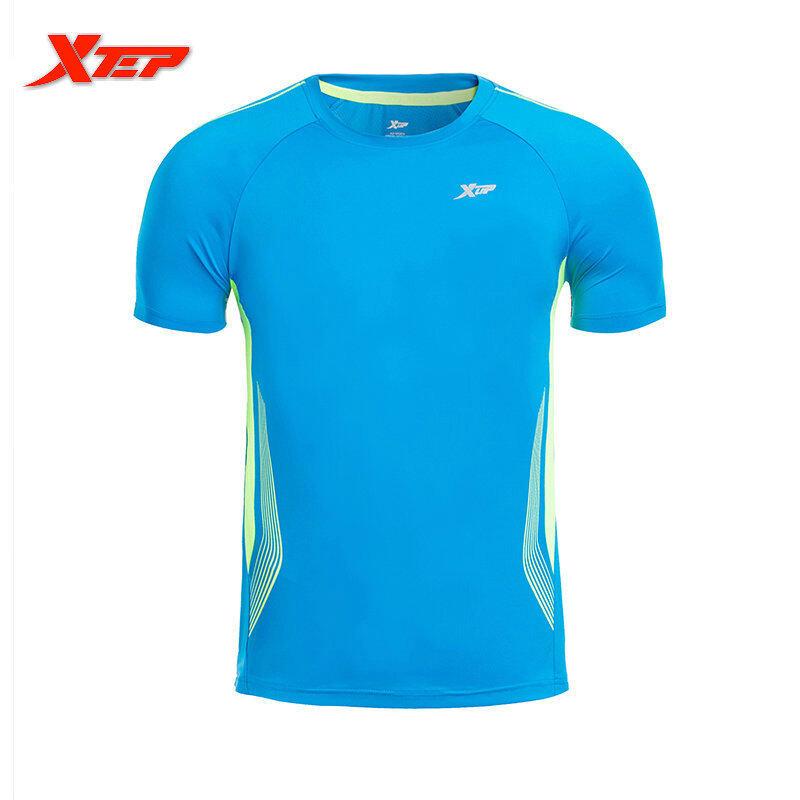 Harga Xtep Cepat Kering Merek Olahraga Pria T Shirt Nya Small Boy In Luar Rumah Berjalan T Shirt Pusat Atasan Lengan Bang Pendek Leher O Olahraga Biru Hijau Xtep Terbaik