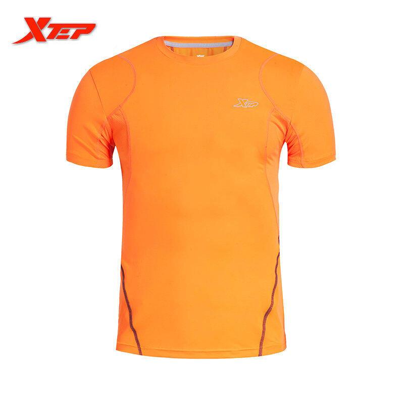 Berapa Harga Xtep Merek Pria Cepat Kering Sport T Shirts 2016 Gaya Musim Panas Pria Outdoors Menjalankan T Shirt Tops O Neck Sport Bersumpah Orange Intl Di Tiongkok