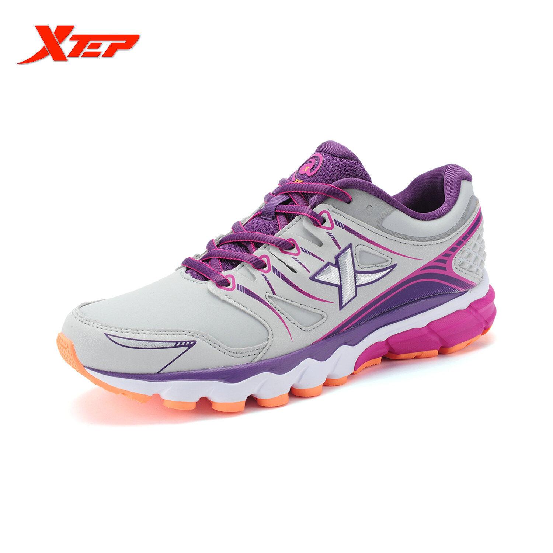 Harga Xtep Profesional Merek Sepatu Lari Untuk Wanita China Cahaya Kulit Sepatu Olahraga Wanita Redaman Atletik Lari Sepatu Kets Abu Abu Xtep Indonesia