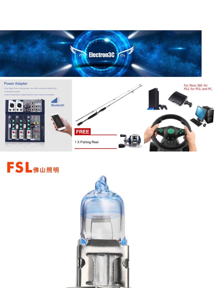 FSL 2pcs 12V 100W H3 E7315101210000007 Xenon Car Auto Lamp Bulb Driving  Lamp Universal Headlights