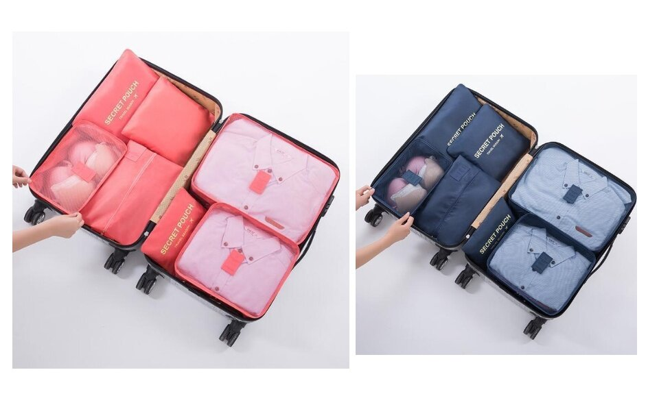 02b1ecfa7661 NEW ! 7 in 1 Luggage Organizer - 7pcs/Set waterproof Travel Storage Bag  secret pouch Organizer Wardrobe Suitcase Pouch Travel Organizer Bag Case  Shoes ...