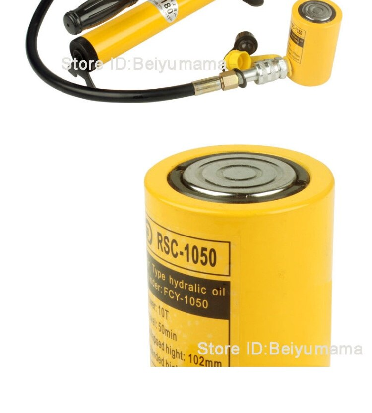 Short type hydraulic cylinder RSC-1050 Hydraulic Jack with tonnage of 10T,  work travel of 50mm