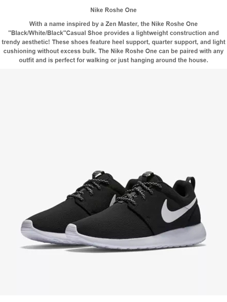 Nike roshe one all white shoes women's new NWT