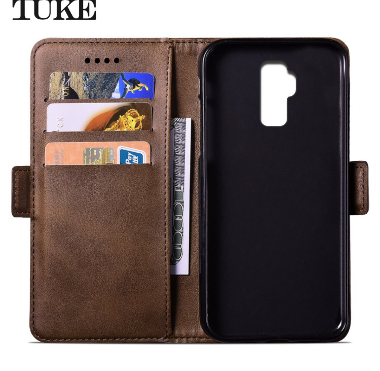 check out 829bb 0c310 TUKE For Case Homtom S8 Case Flip Leather Case For Doogee Homtom S8 Cover  Wallet Card Slot Shell Kickstand