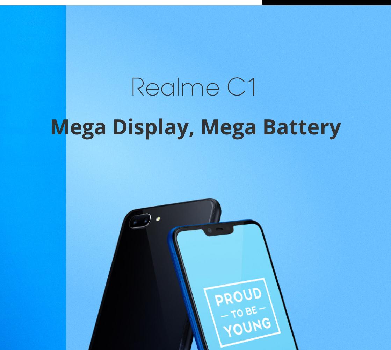 realme C1 (2+16gb + 4230mAh battery) smartphone