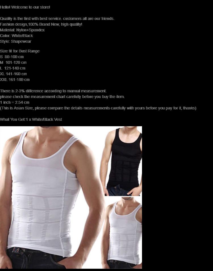 MENS SLIMMING BODY SLIM CHEST TUMMY SHAPER VEST UNDER TSHIRT WAIST BACK SUPPORT