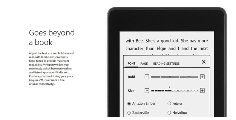 Amazon Kindle Paperwhite 4 Waterproof Wi-Fi (International Version) E-Book  Reading Device E-Reader / Kobo Aura H2O / Kindle Voyage / Kobo Aura One /