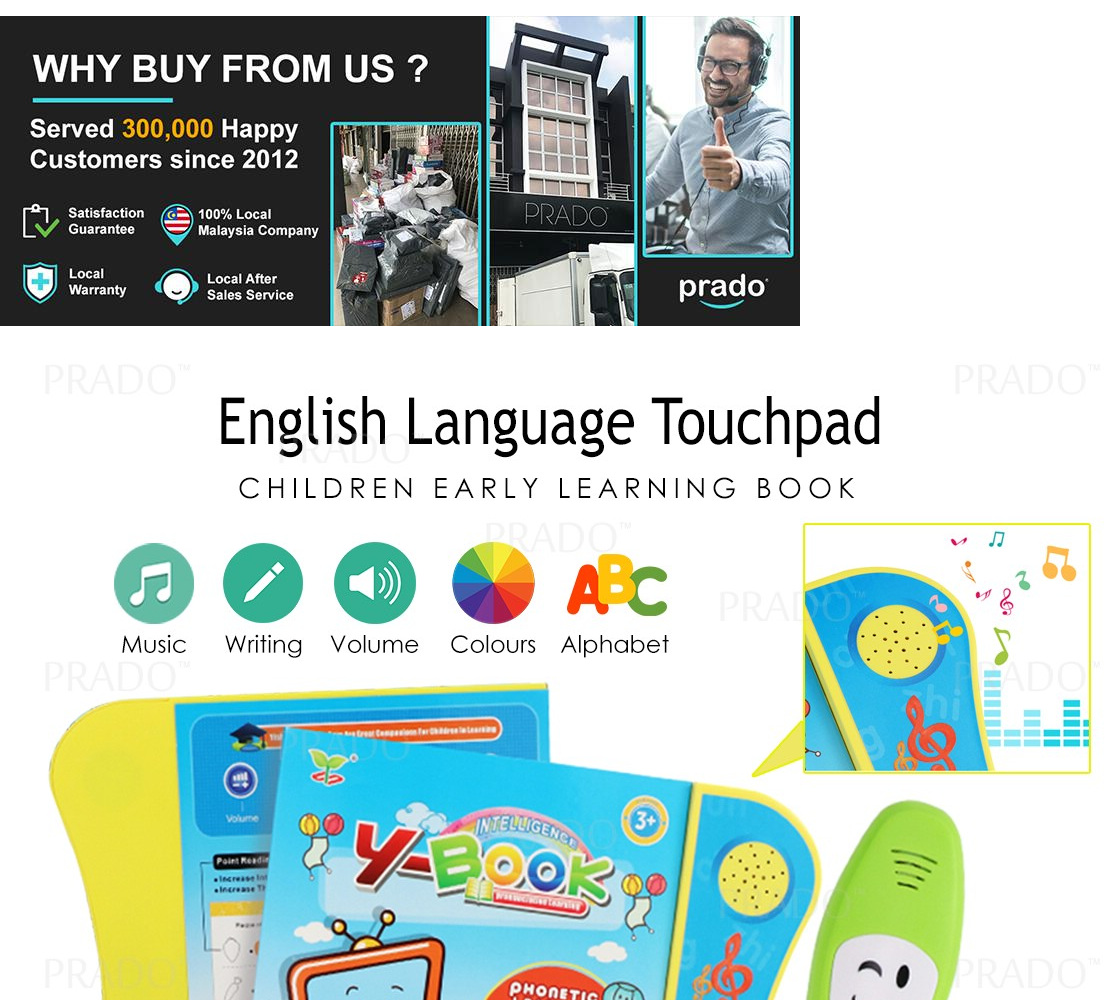 PRADO Malaysia Children English Language Early Learning book Colourful  Touchpad With Music Song YBOOK 2606