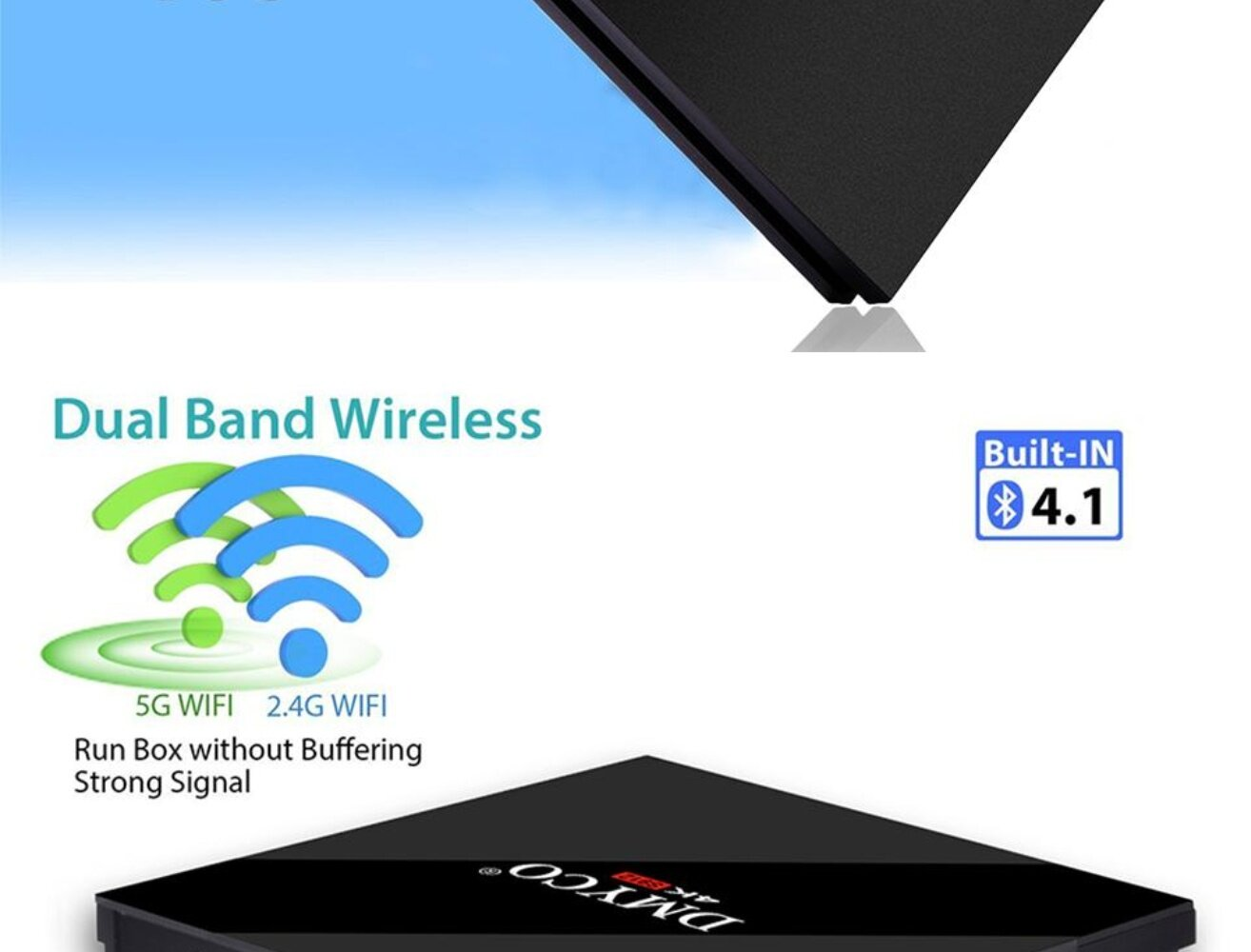 (Pre-installed Channels/Movies Apps) PULIERDE H96 PRO+ Android 7 1 Smart TV  Box Amlogic S912 Octa Core 3G 32G 2 4GHz/5GHz dual-band Wifi 4K