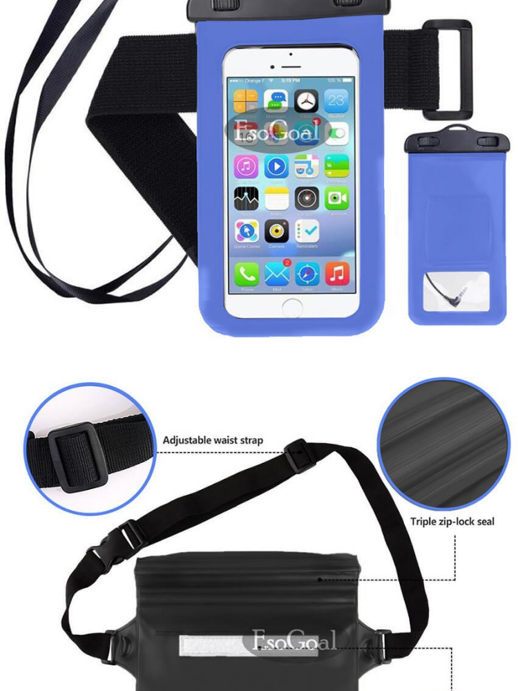 brand new d86c3 e90c5 EsoGoal Waterproof Waist Bag with Waterproof Phone Pouch, Multifunctional  Waterproof Bag to Keep Your Phone and Valuables Safe and Dry, Perfect for  ...