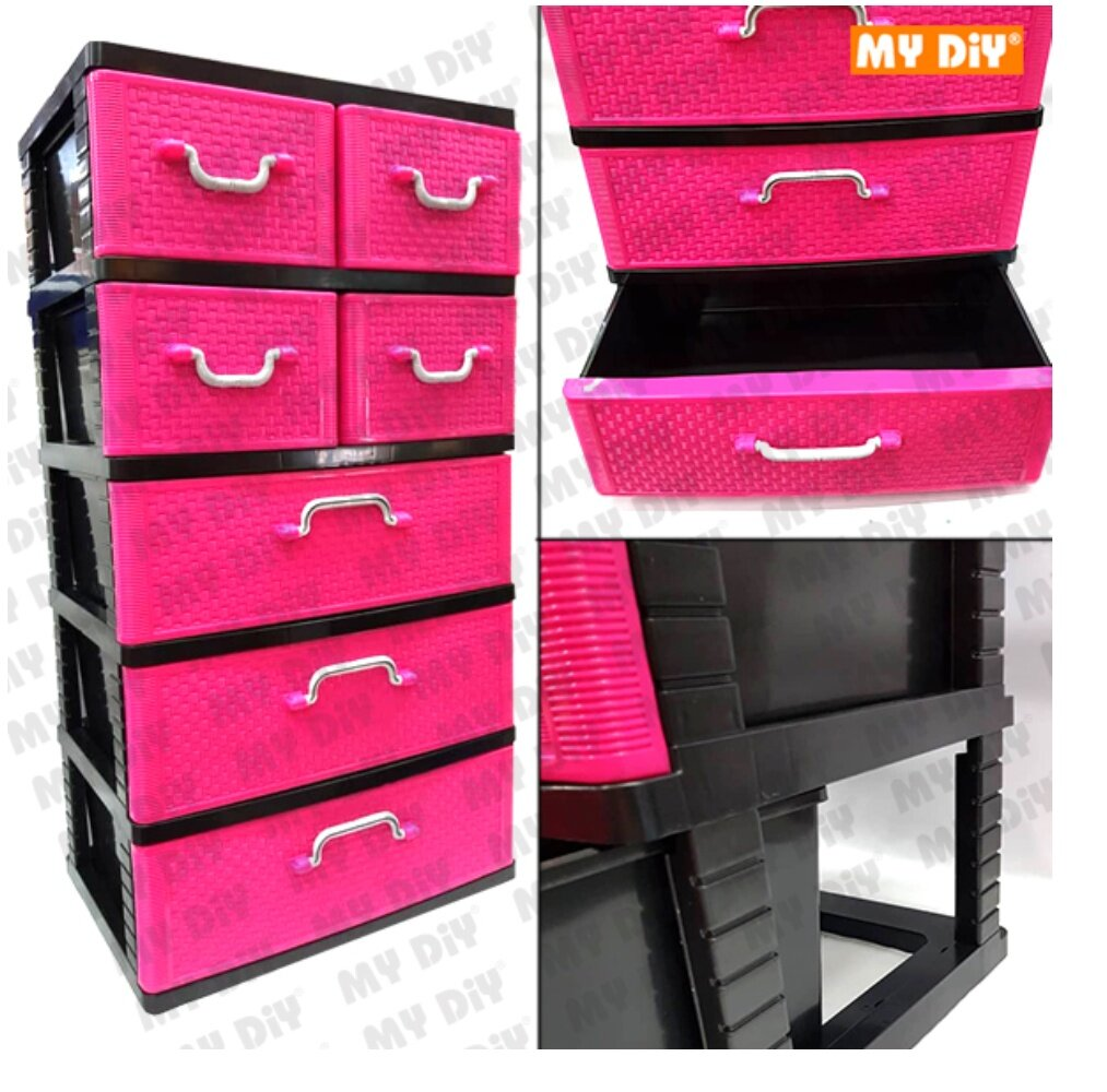 MYDIYBANDARPUCHONGJAYA - Century Plastic Drawer 5 Tier 7 Drawers B9350 /  Storage Box Drawer Plastic Cabinet Furniture