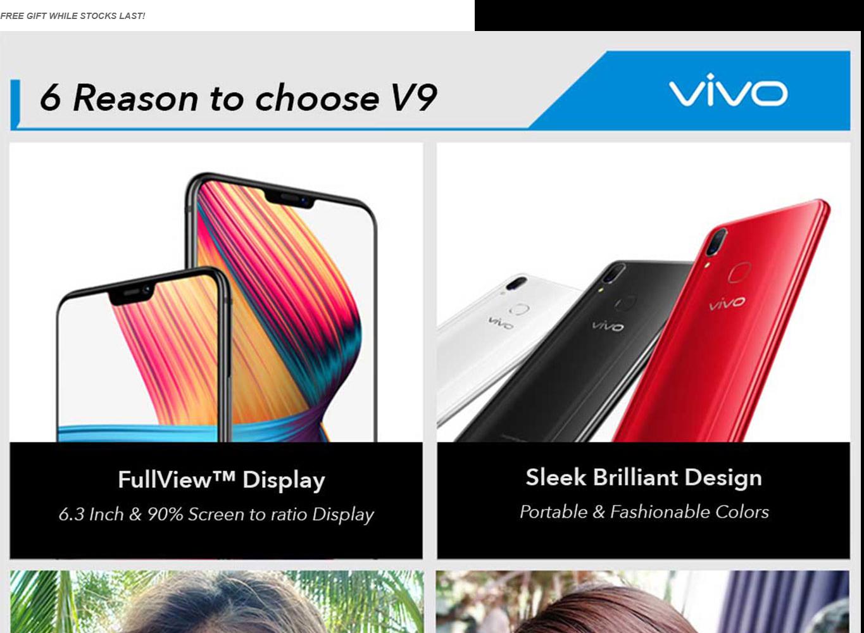 vivo V9 Limited Edition (4GB RAM + 64GB ROM) 24MP Front Camera,16MP+5MP  Rear Camera,Rear Mounted Fingerprint