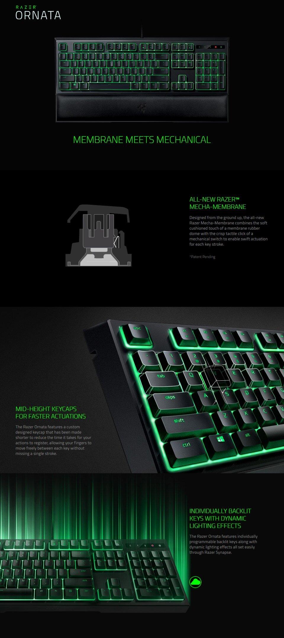 RAZER Ornata Expert Mecha-Membrane Gaming Keyboard RZ03-02041700-R3M1