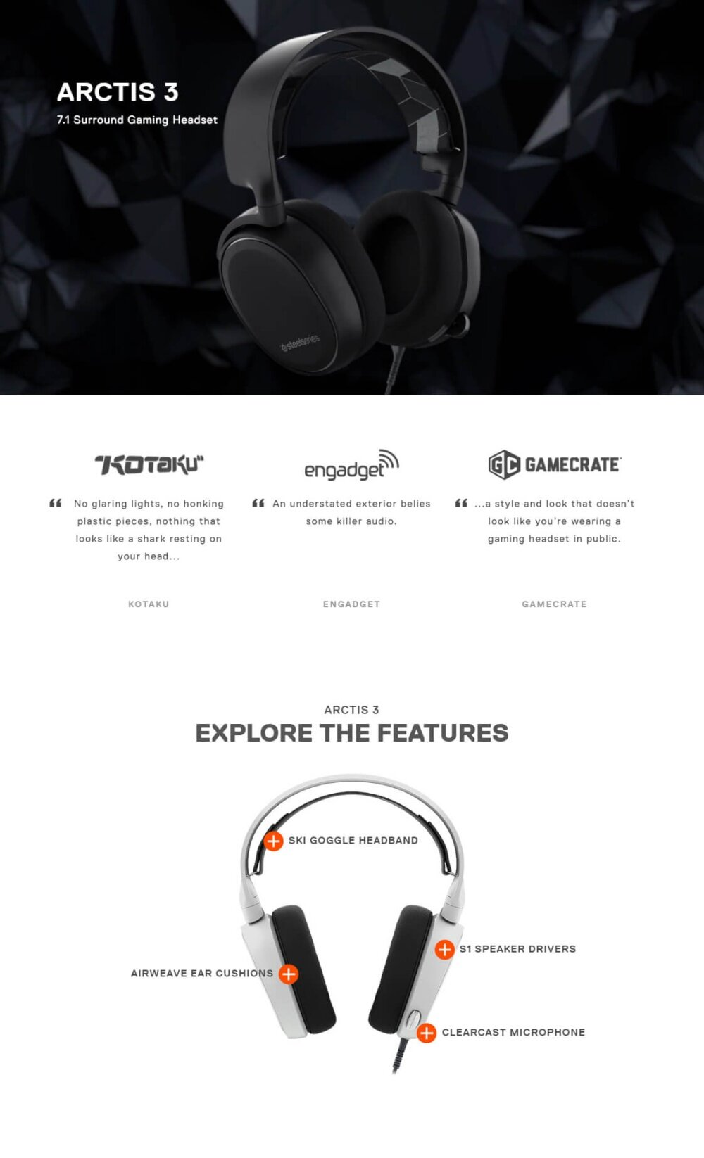 SteelSeries Arctis 3 7 1 Surround Gaming Headset 2019 Edition [ Ready Stock  ]