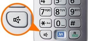 Use the phone without holding it to your ear, just press the speakerphone button