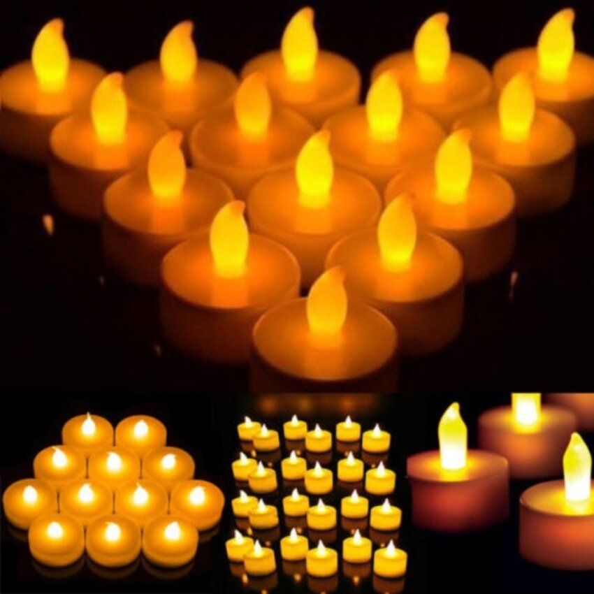 Product details of GETEK 12 PCS Electronic Tea Light LED Candle ( Yellow;non-Flickering). Flameless ...