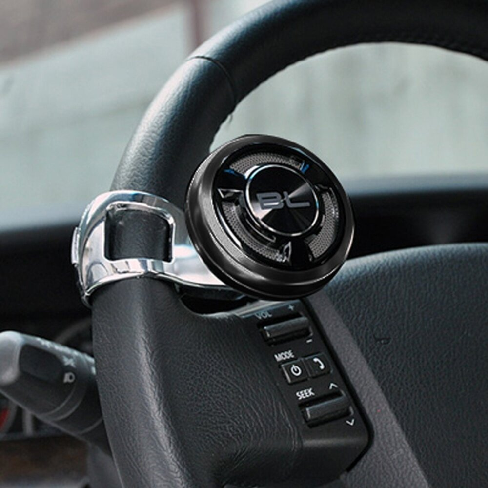 I-POP  Power Handle Car Steering Wheel Suicide Spinner Knob SILVER