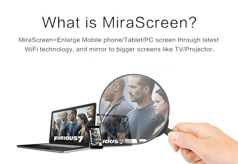 Original MiraScreen Miradisplay Miracast Airplay DLNAWifi Display  Mediashare Ezcast Dongle for Android / Apple IOS System