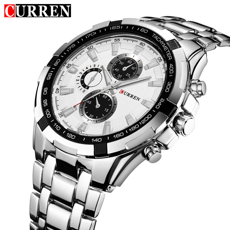 16e30cf54ce Product details of (100% Authentic) Curren Men s Stainless Steel Strap Watch  8023 (Japan Movement 7T35)(One size)