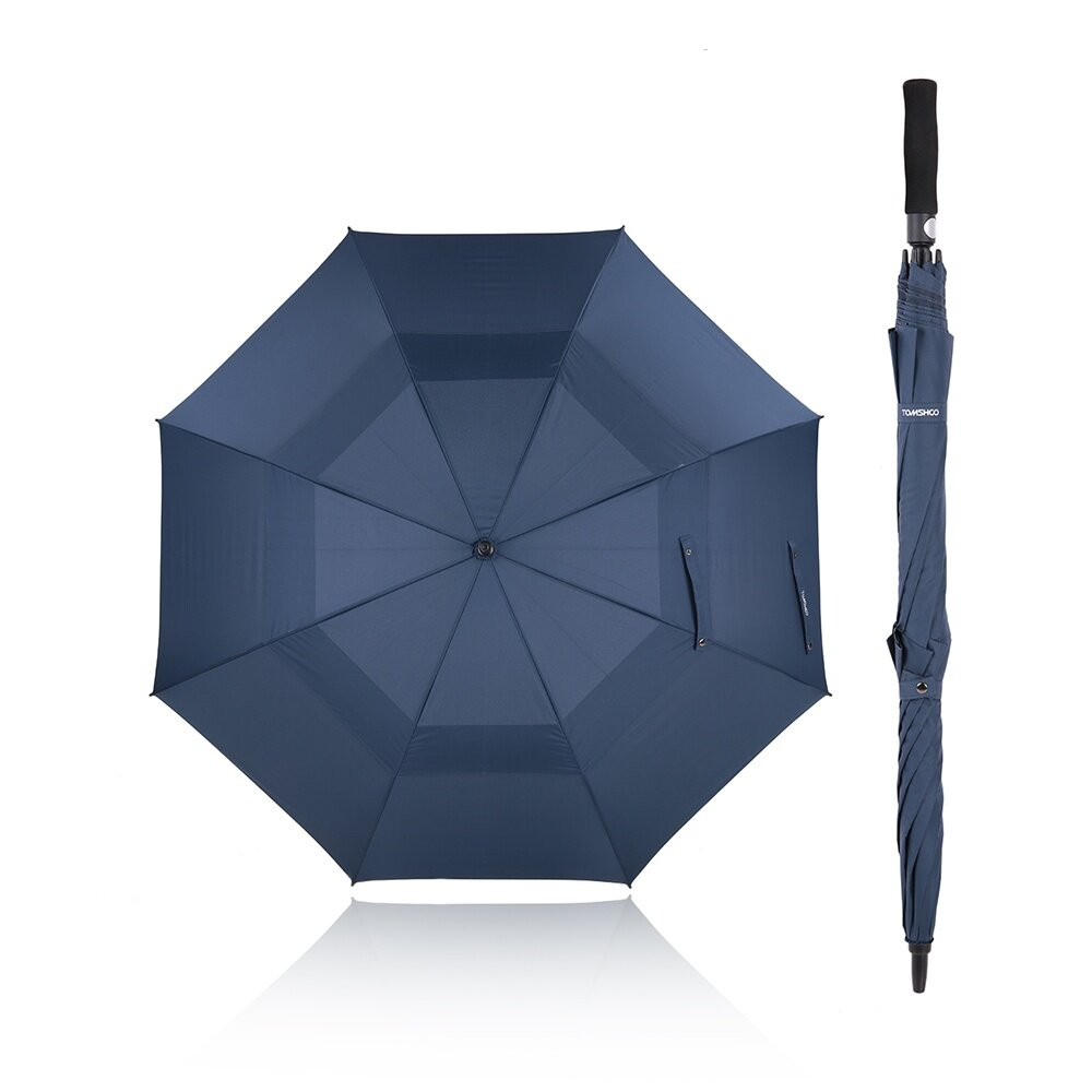 ca78493a4941 TOMSHOO 61 Inch Oversized Automatic Auto Open Golf Umbrella Outdoor Extra  Large Double Canopy Ventilated Windproof Stick Umbrella
